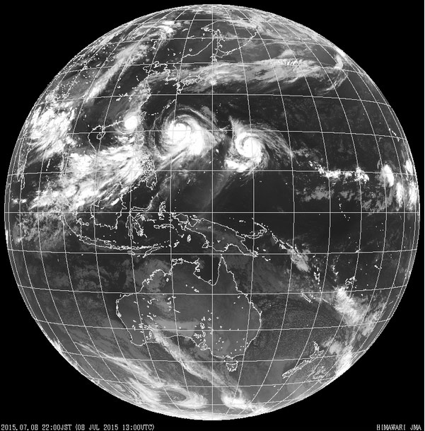Спутник «Химавари-8» будет передавать кадры Земли каждые 10 мин.
