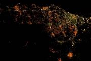 Огненная Этна в ночи — снимки с МКС и спутника
