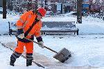 Коммунальщики Москвы борются со снегопадом